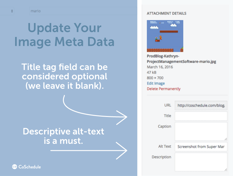 Update your image meta data