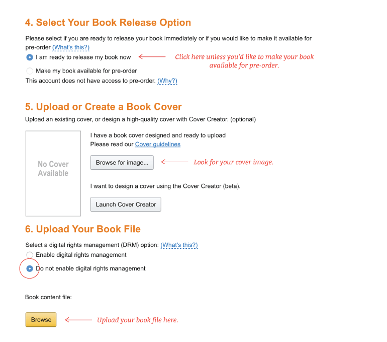 Where to upload your book file without DRM