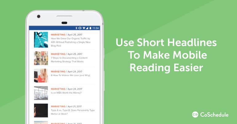 Use Short Headlines to Make Mobile Reading Easier
