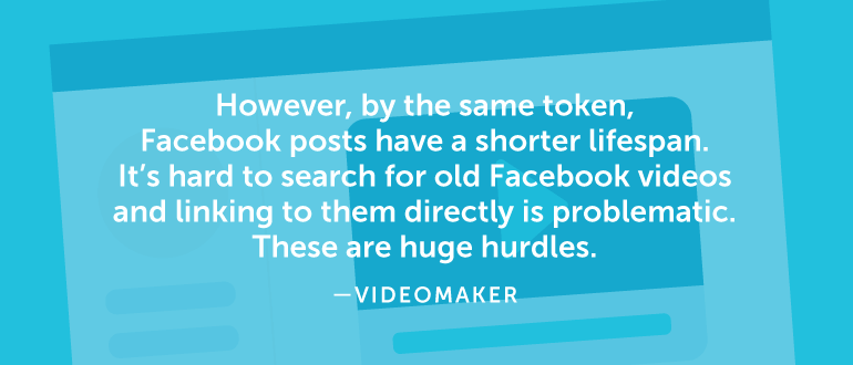 However, by the same token, Facebook posts have a shorter lifespan.