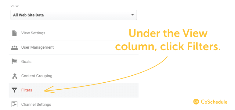 Under View column, click Filters