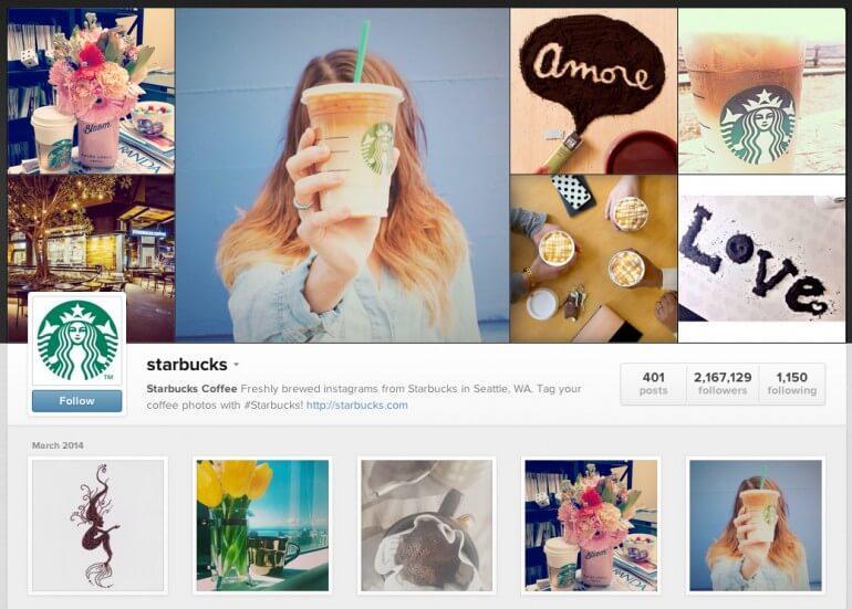 Visual content marketing examples - Instagram