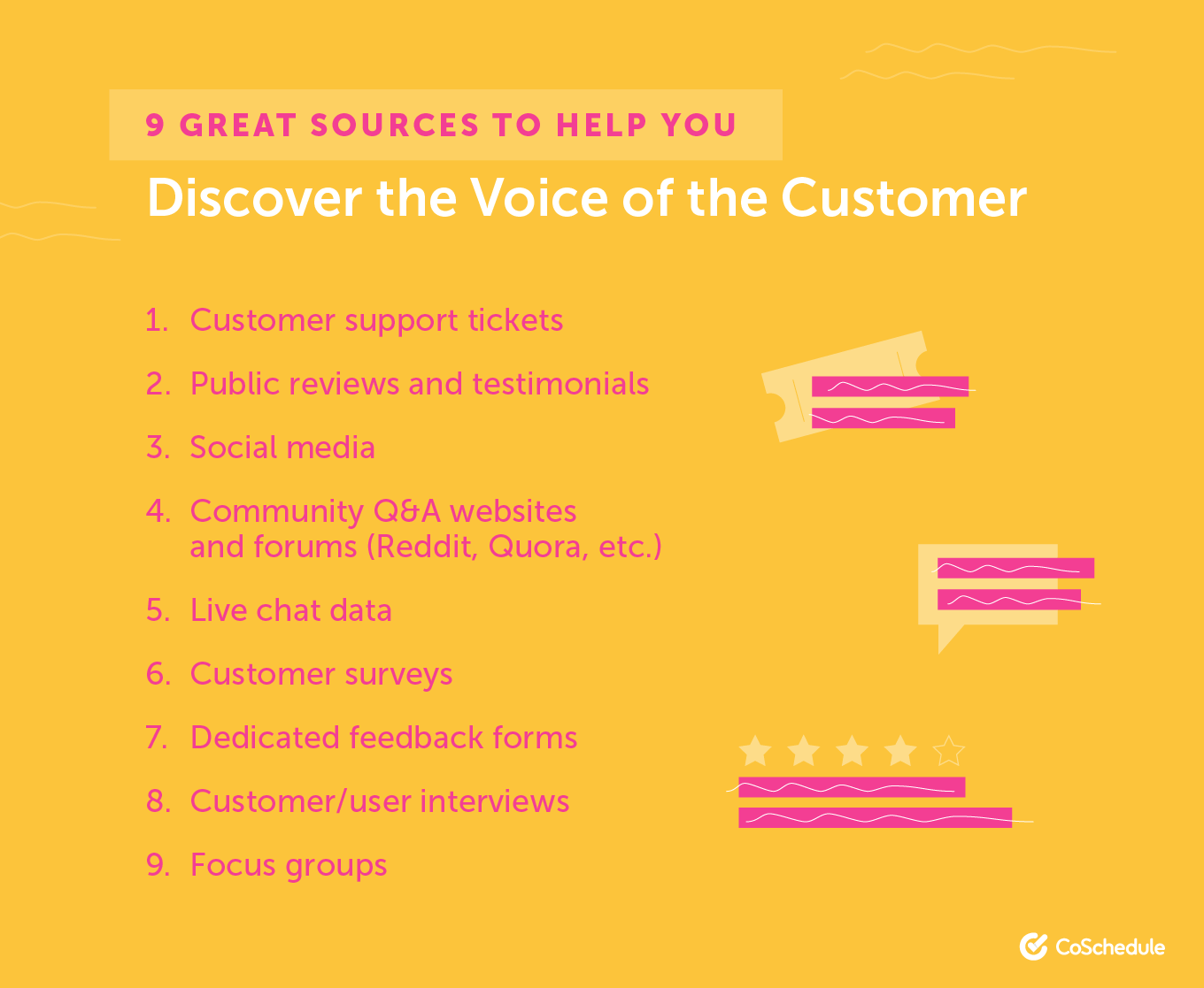 9 Great Sources to Help You Discover the Voice of the Customer
