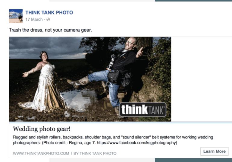 Example of a wedding promo