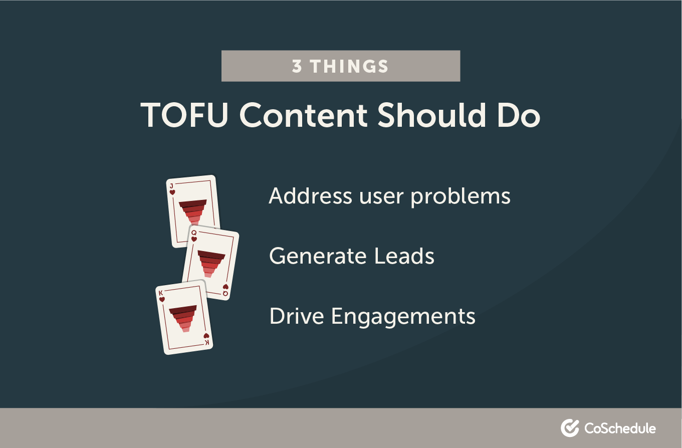 Three Things TOFU Content Should Do