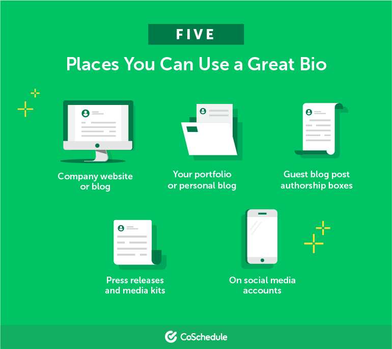 Five Places Where You Can Use a Great Bio