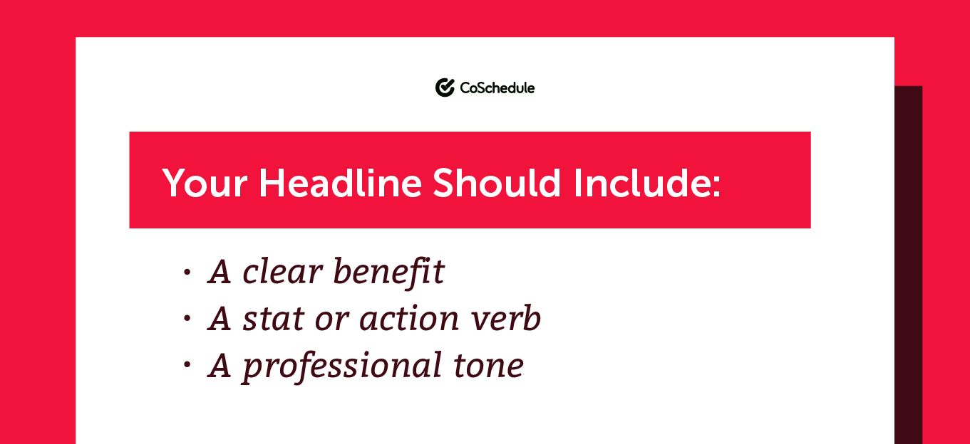 What should a white paper headline include?