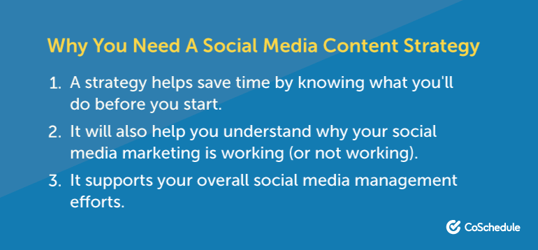 Why You Need a Social Media Content Strategy