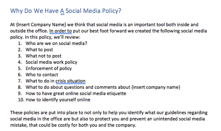 Why Have a Social Media Policy?
