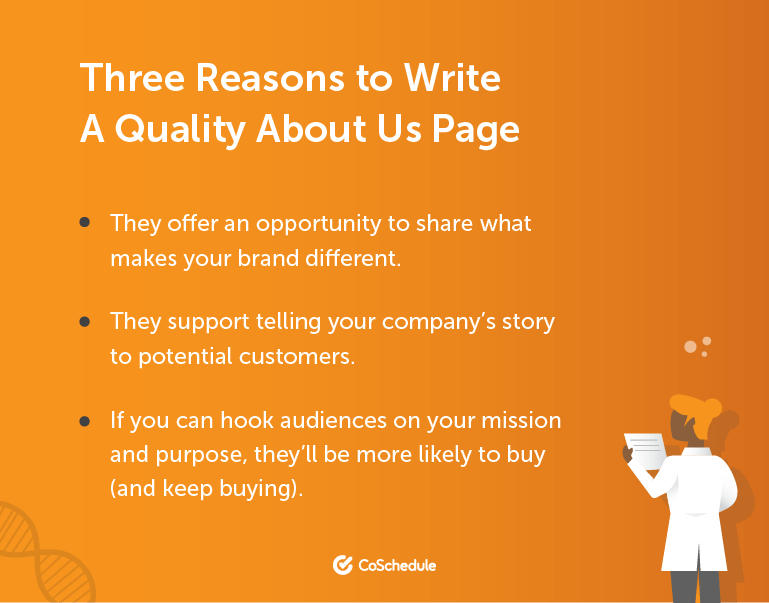 Three Reasons to Write a Quality About Us Page