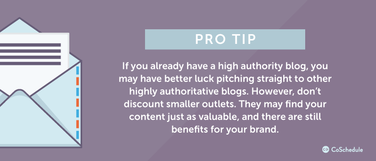 If you already have a high authority blog, you may have better luck ...