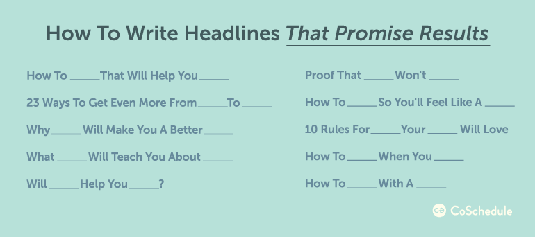 how to write headlines that promise results with relationship marketing