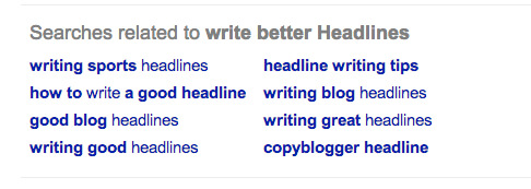 Related search terms provide a wealth of keyword knowledge.