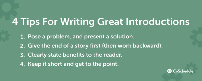 4 Tips For Writing Great Introductions